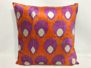 SEANCE SHELLS - IKAT SILK/VELVET PILLOW