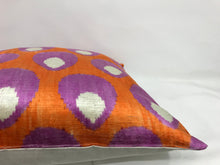 Load image into Gallery viewer, SEANCE SHELLS - IKAT SILK/VELVET PILLOW