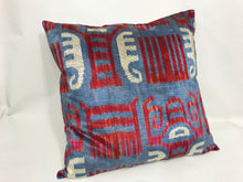 Load image into Gallery viewer, THE WHITE ELEPHANT - IKAT SILK/VELVET PILLOW