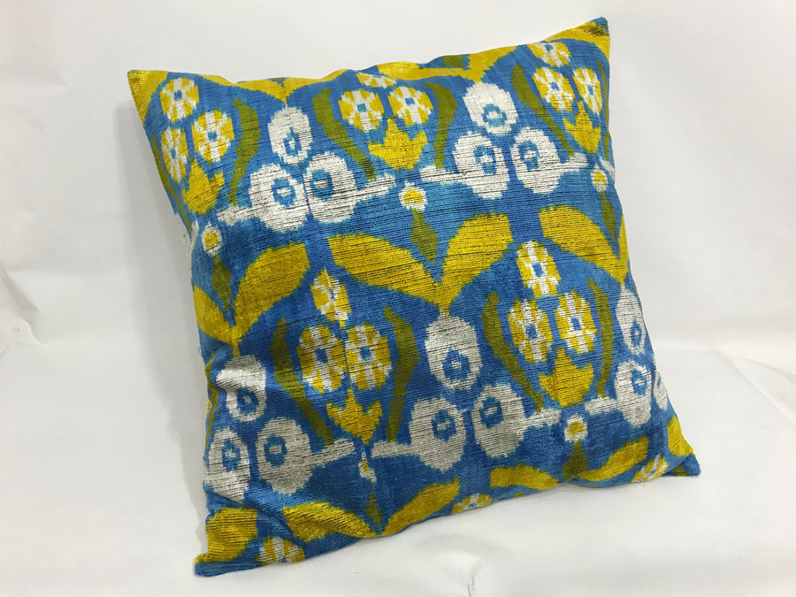 BAY OF MANY - IKAT SILK/VELVET PILLOW