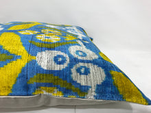 Load image into Gallery viewer, BAY OF MANY - IKAT SILK/VELVET PILLOW