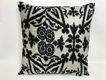 Load image into Gallery viewer, BUNKER GARDEN - IKAT SILK/VELVET PILLOW