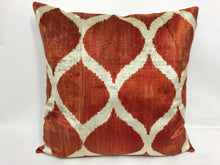 Load image into Gallery viewer, COPPER CANYON CLASSIC - IKAT SILK/VELVET PILLOW
