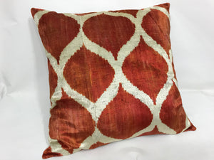 COPPER CANYON CLASSIC - IKAT SILK/VELVET PILLOW
