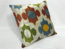 Load image into Gallery viewer, SONIC DAISY - IKAT SILK/VELVET PILLOW