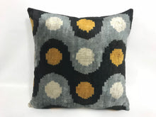 Load image into Gallery viewer, ROLLING STONE - IKAT SILK/VELVET PILLOW