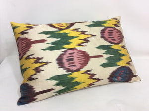 MALLARD TULIP  - IKAT SILK PILLOW