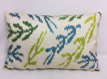Load image into Gallery viewer, OLIVE BRANCH - IKAT SILK PILLOW