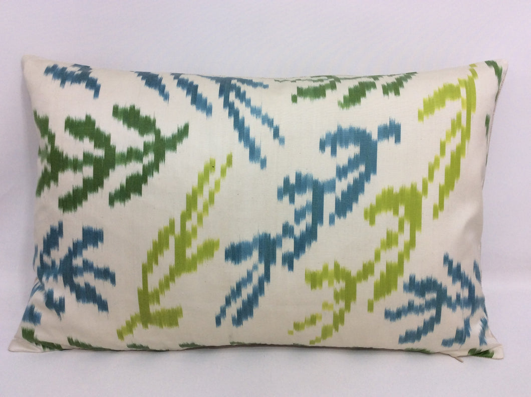 OLIVE BRANCH - IKAT SILK PILLOW