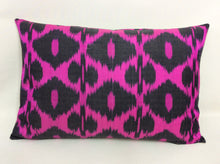 Load image into Gallery viewer, SHOCKING PINK - IKAT SILK PILLOW