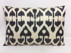 SHARK GRAY CHANDELIER - IKAT SILK PILLOW