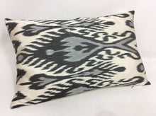 Load image into Gallery viewer, HIT GRAY - IKAT SILK PILLOW