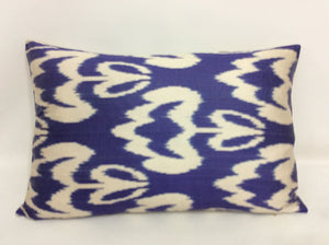 METEORITE PURPLE - IKAT SILK PILLOW