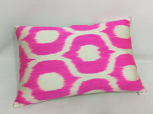 Load image into Gallery viewer, CERISE PINK CLASSIC - IKAT SILK PILLOW