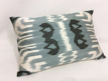 Load image into Gallery viewer, OSLO GRAY - IKAT SILK PILLOW