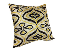 Load image into Gallery viewer, LA RIOJA- IKAT SILK/VELVET PILLOW