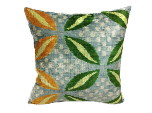 WATERCOURSE- IKAT SILK/VELVET PILLOW