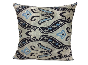 SUBMARINE - IKAT SILK/VELVET PILLOW