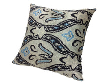 Load image into Gallery viewer, SUBMARINE - IKAT SILK/VELVET PILLOW