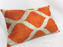 Load image into Gallery viewer, PIPER CLASSIC - IKAT SILK/VELVET PILLOW
