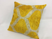 Load image into Gallery viewer, OLD GOLD CLASSIC - IKAT SILK/VELVET PILLOW
