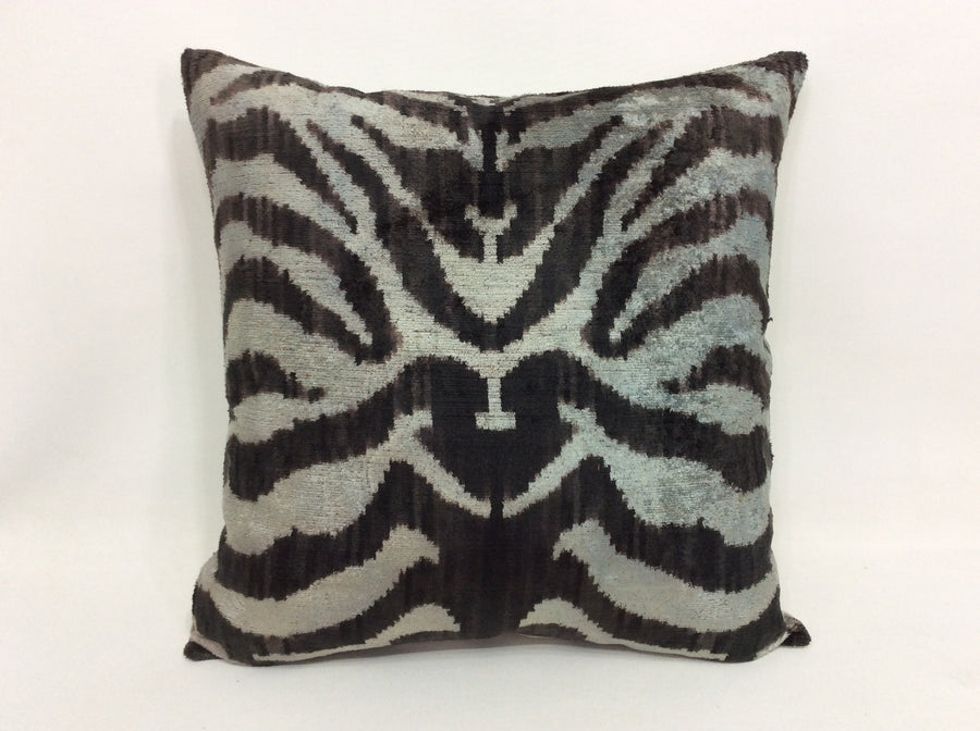 HAITI LOBLOLLY - IKAT SILK/VELVET PILLOW