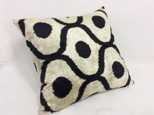 Load image into Gallery viewer, CINDER DOTS CLASSIC - IKAT SILK/VELVET PILLOW