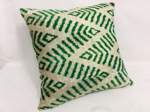 SAN FELIX - IKAT SILK/VELVET PILLOW