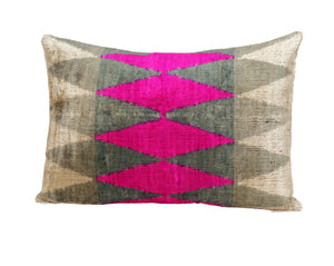 HEART RHYTHM- IKAT SILK/VELVET PILLOW