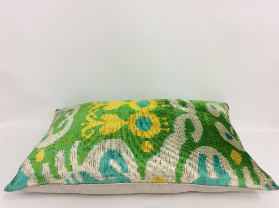 Ikat Pillow Case -  16'' x 24'' Ikat Velvet Pillow Cover