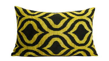 İkat Velvet Pillow Cover, 16'' x 24'' ,  Ikat Velvet Pıllow Cover