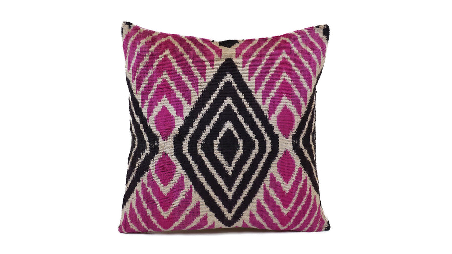 Ikat Velvet Pillow - 16'' x 16''  Pillow Cover