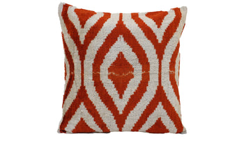 Ikat Velvet Pillow Case -  16'' x 16