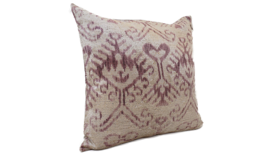 İkat Velvet Pillow Cover, 20'' x 20'' , Decorative Pillow, Handmade Silk Pillow,İkat Square Pillow, Shipping with Fedex 1-3 days