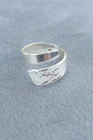 Half Hammered Wrap Ring