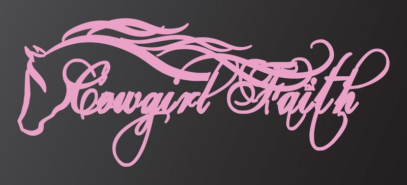 Cowgirl Dreams Co™. Cowgirl Faith Decal - Pink