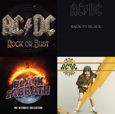 Rock AC/DC to ZZTop