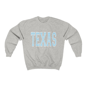 Light Blue Texas Crewneck