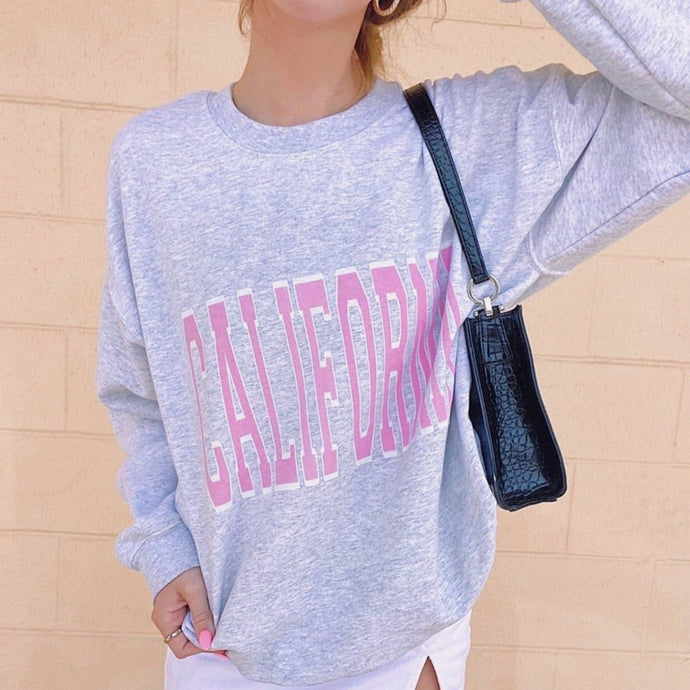 Pink California Crewneck