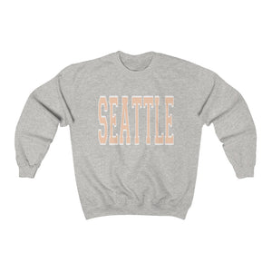 Pastel Orange Seattle Crewneck