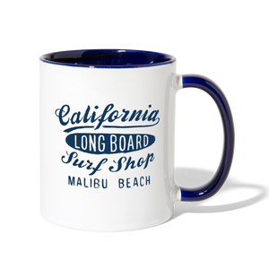 Surf Shop Mug - white/cobalt blue