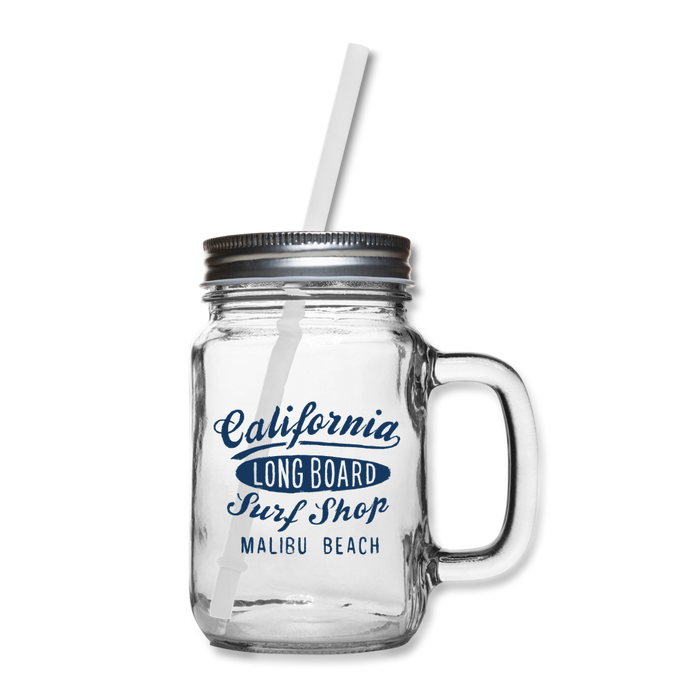 Surf Shop Mason Jar - clear