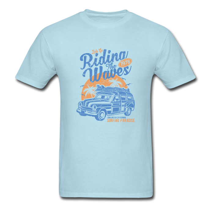 Riding The Waves 1978 Tee - powder blue