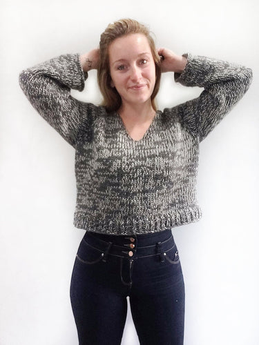 White Noise Sweater - KNITTING PATTERN