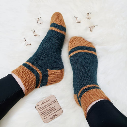Sporty Shorty Socks - KNITTING PATTERN