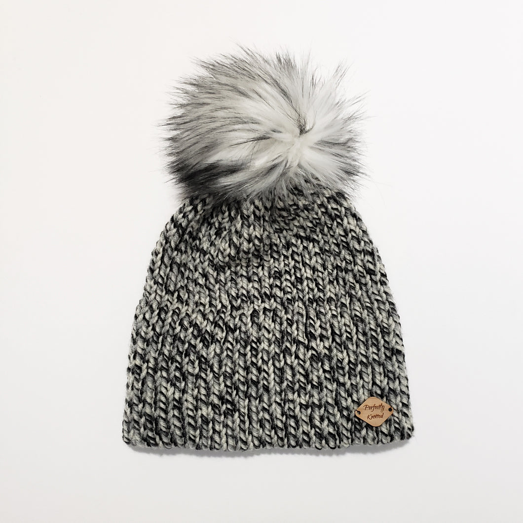 Double Brim Beanie - Tonal Grey