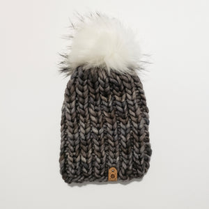 Chunky Ribbed Beanie - Sombras