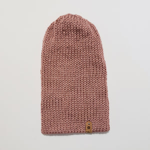 Hipster Slouch Beanie - Rose