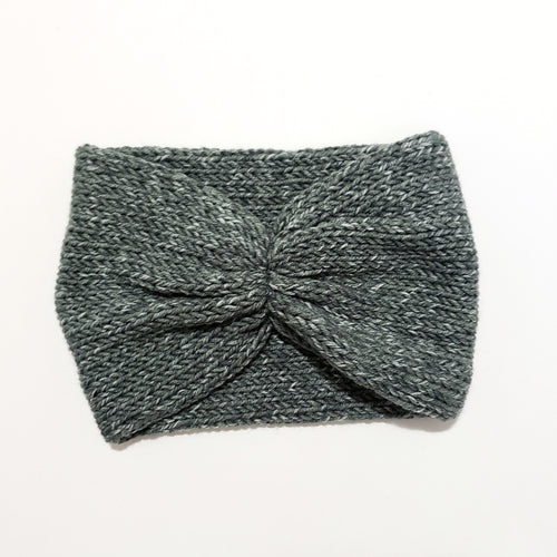Scrunch Front Headband - Grey