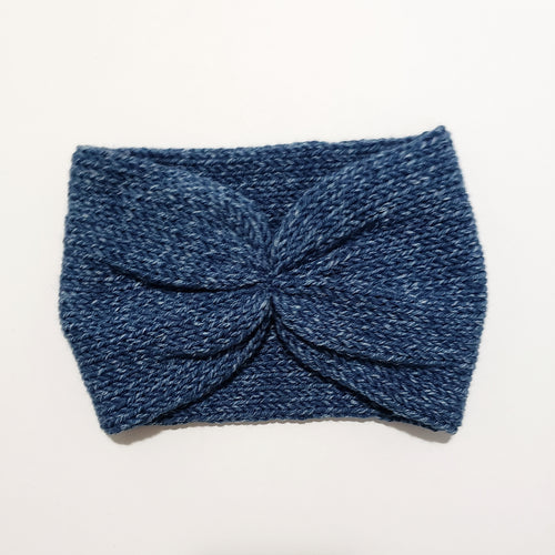 Scrunch Front Headband - Denim